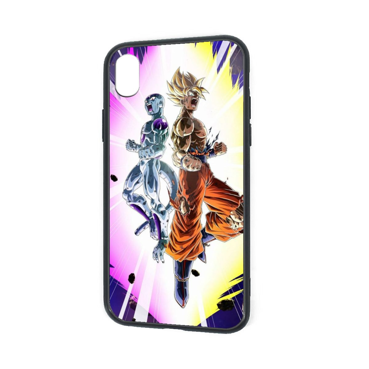 IPhone X XR XS 6 7 8 Plus Hybrid Soft Grip Clear Back Panel Ultra-Thin [Slim Fit] Cover Frieza and Goku