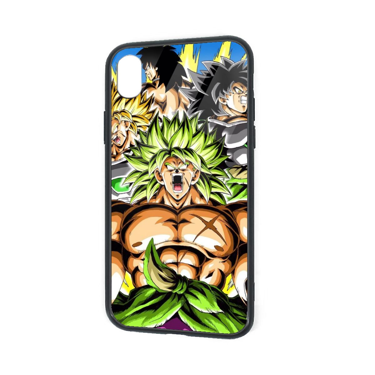 IPhone X XR XS 6 7 8 Plus Hybrid Soft Grip Clear Back Panel Ultra-Thin [Slim Fit] Cover Legend Broly