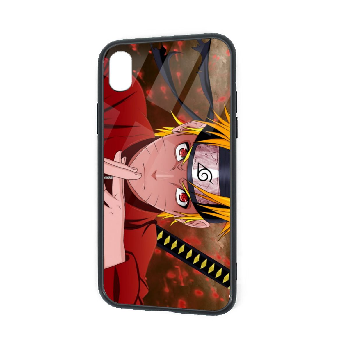 IPhone X XR XS 6 7 8 Plus Flexible Slim TPU Protector Cover Naruto Sage Mode
