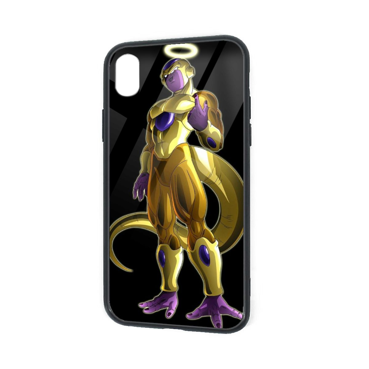 IPhone X XR XS 6 7 8 Plus Hybrid Soft Grip Clear Back Panel Ultra-Thin [Slim Fit] Cover Golden Frieza