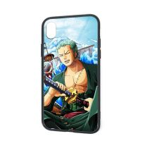 IPhone X XR XS 6 7 8 Plus Soft TPU Rubber Case with Clear Back Roronoa Zoro