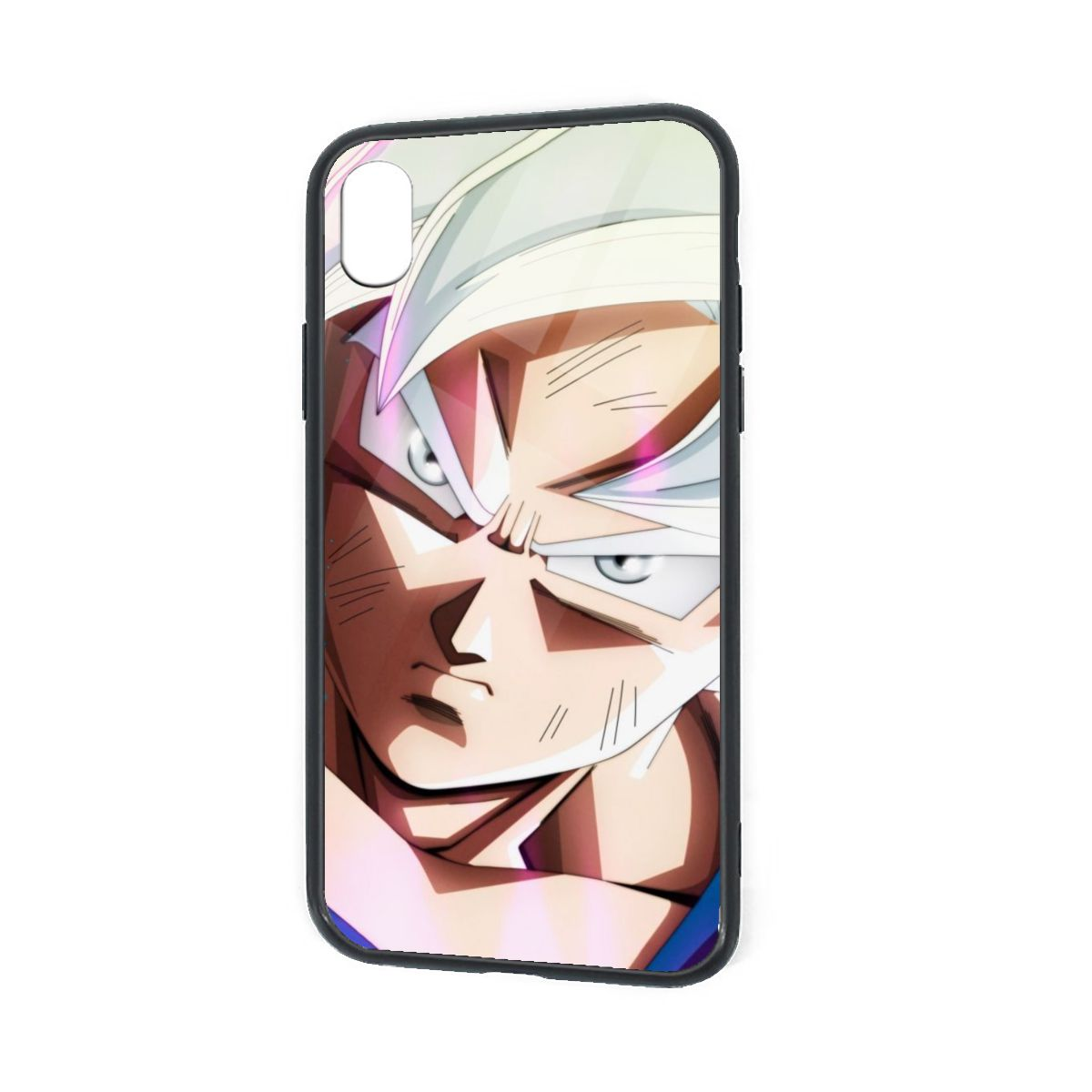 IPhone X XR XS 6 7 8 Plus Hybrid Soft Grip Clear Back Panel Ultra-Thin [Slim Fit] Cover Silver Goku