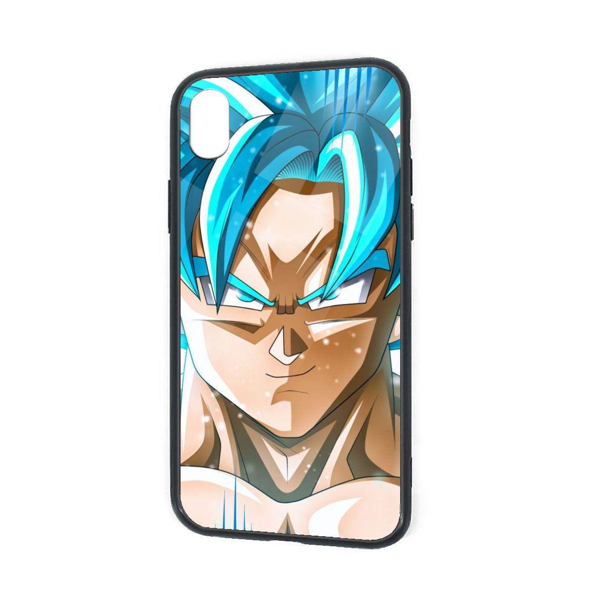 IPhone X XR XS 6 7 8 Plus Hybrid Soft Grip Clear Back Panel Ultra-Thin [Slim Fit] Cover SSG Blue Goku
