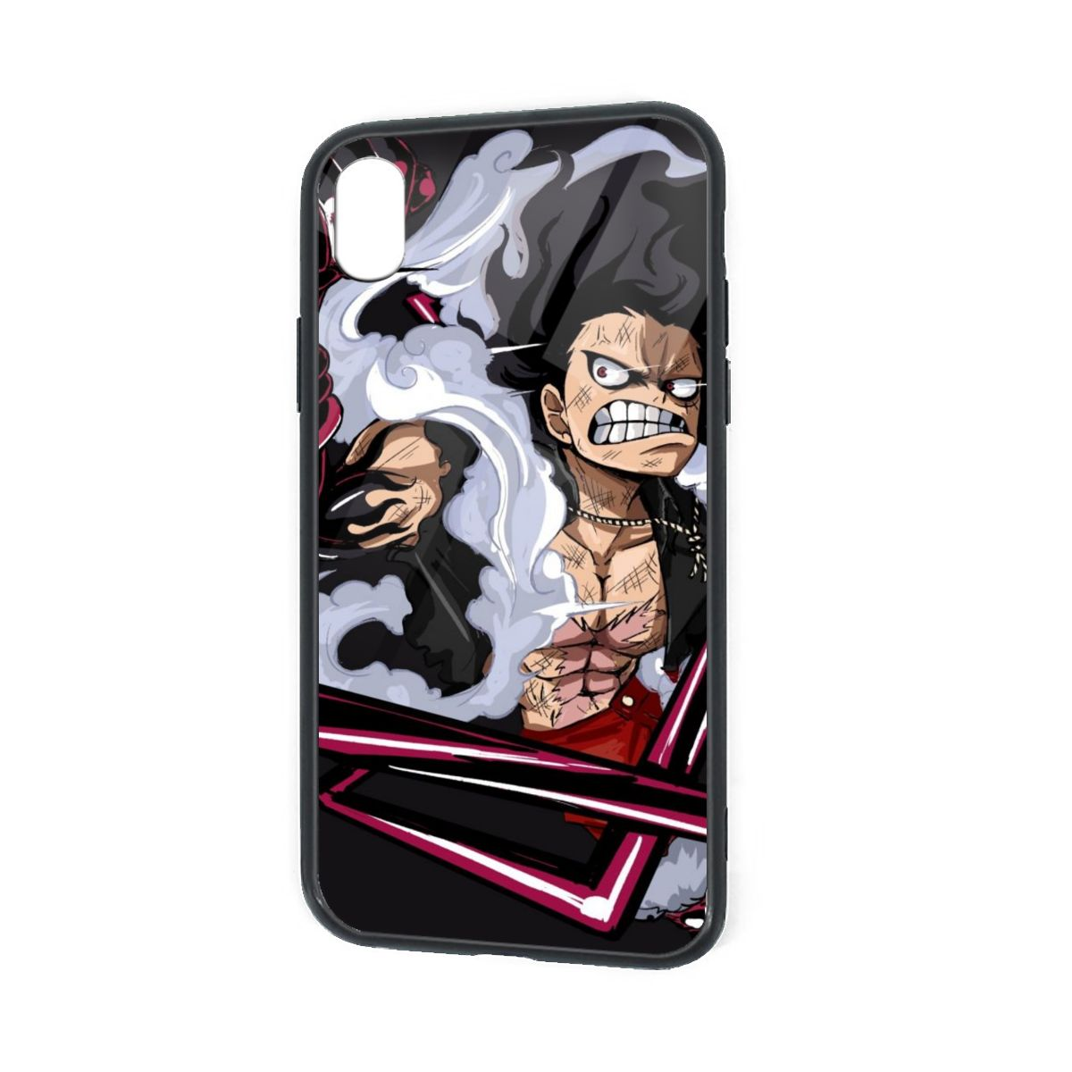 IPhone X XR XS 6 7 8 Plus Soft TPU Rubber Case with Clear Back Snakeman Luffy