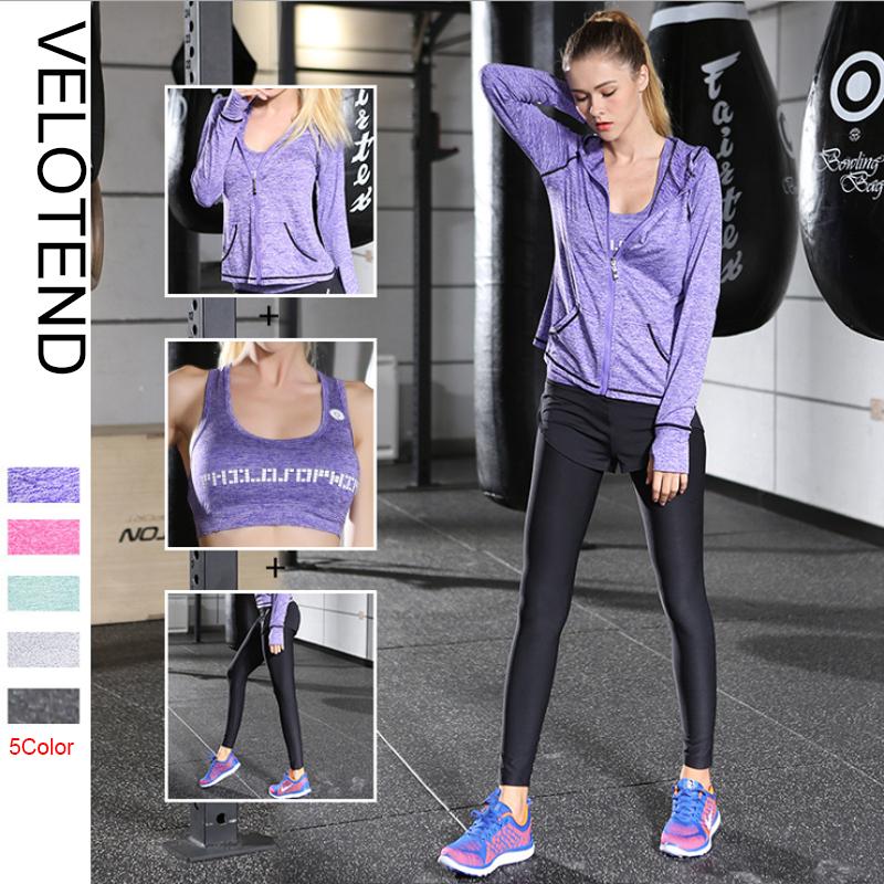 835a0e0cea6e5 Golf Training Sets Fitness Clothes Yoga Women Fitness Yoga Set jacket   Bra    pants Sport