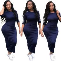 SYA8221 wholesale solid bandage pencil maxi dresses for women
