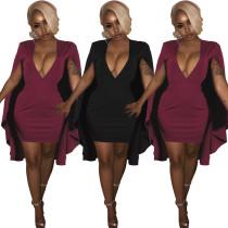 SYA8074 stylish fashion modern sexy cleavage solid mini dresses women lady