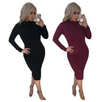 9031921women hot sexy backless long sleeve club dress