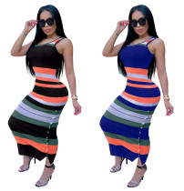 HOT sale casual sleeveless hollow out maxi dresses for women