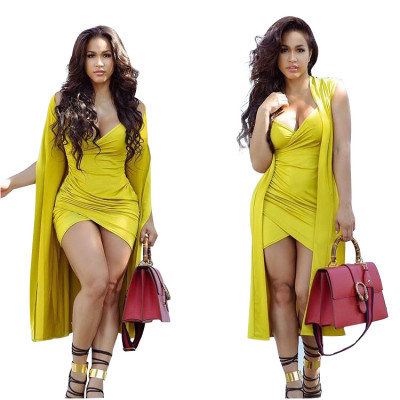 Sexy short skimpy dress beautiful  Skirt and cape two-piece suit VYN8096