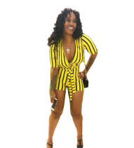 9040139 fashion striped short sexy women jumpsuits and rompers