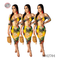 9042704 Women summer sexy strapless crop top and pencil skirt two piece sets clothes moendress