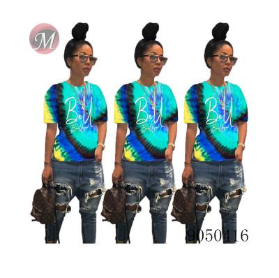 9050416 queenmoen hot sale women digital printed fashion casual t shirt for summer