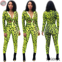9050821 queenmoen women fashion casual long sleeve print two piece pants set with knot