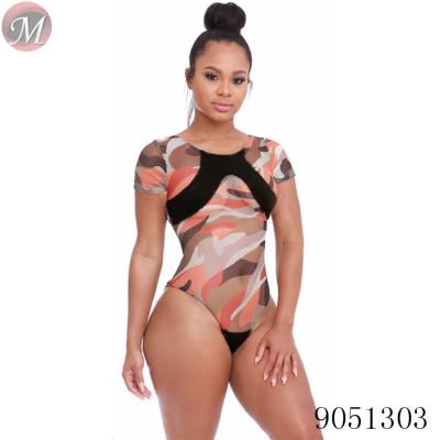 9051303 queenmoen Wholesale summer ladies sexy mesh bodysuit