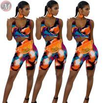 9052504 queenmoen wholesale summer sleeveless two piece set women clothing