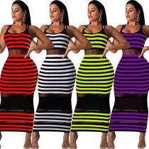9050620 queenmoen women ladies fashion dresses stripe long maxi sleeveless casual dress