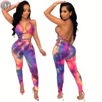 9061004 queenmoen wholesale new fashion sexy print lady backless club bodycon jumpsuit