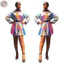 9062423 queenmoen hot sale girl fashion summer beautiful a-line print pleat mini skirt