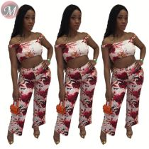 9080125 queenmoen fashionable 2019 latest design clothing sexy woman crop top long pants 2 piece outfit