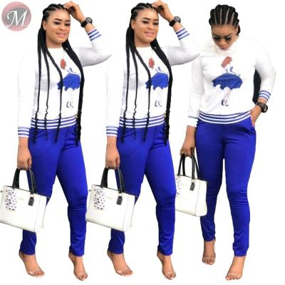 9080226 queenmoen newest hot long sleeve fall woman two piece set fashion clothing outfits for woman