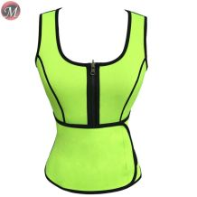 S908066 new sexy multicolor zipper sports extreme sweat abdominal belt women slimming neoprene body shapers vest