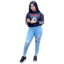 Q101508 hot onsale Print Fashion T-shirt Women