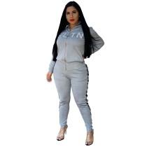 Q111301 hot onsales Trendy Women Clothing Two Piece Pants Set Ladies
