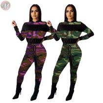 9110703 high quality autumn 2019 patchwork print women clothing two piece outfits set