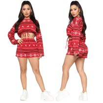 Q111914 seasonal onsales Crop Top 2 Piece Set Women Clothing
