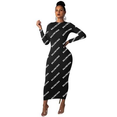 Q111907 Latest Casual Designs Long Sleeve Mini Sexy Bodycon Dress