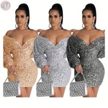 9101804 best seller night club party wear sequins Ladies Clothing Women Hot Sale Sexy Bodycon Dress