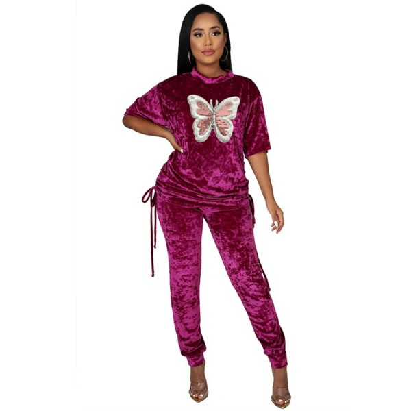 Q112206 fashion sports Woman 2 Piece Set Women Clothing Pants