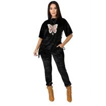 Q112206 fashion sports Woman 2 Piece Set Women Clothing Pants