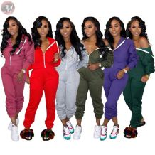 best seller solid color hooded hoodie leisure sport Pants Two Piece Set Women Clothing