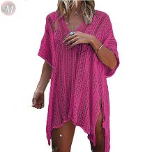 new Crochet White Knitted Beach Cover up dress Tunic Long Pareos Bikinis Swimsuit beach dress Cover up beachwear