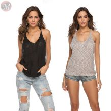 fashion sexy Crochet Sleeveless Sexy Sweater, Summer Top V Neck Sweater Vest camisoles ladies Sweater vest knitwear