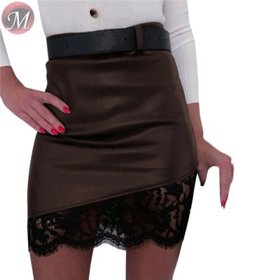 new casual sexy skirt hot selling lace splicing zipper Fashion skirt women clothing