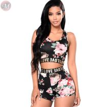 new style summer new leisure suit sweat suit tracksuit digital printing sportswear 2 Piece Set Women Clothing