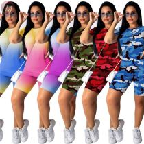 0031610 Hot sportswear 2020 Summer Two Piece Shorts Set Sexy 2 Pcs Track Suit Outfits Women Clothing For Women Two Piece