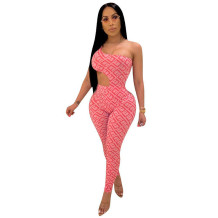 Q033005-2 Wholesale Fashional Fitness Bodysuit Pant Womens 2 Pc Jump Suits Outfits Trendy Women Clothing Two Piece Pant Set