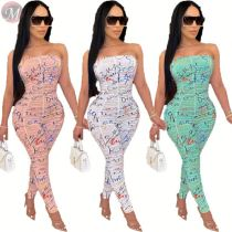 0033010 2020 casual Summer strapless drape Custom Ladies Jump Suit Basic Bodysuits Women One Piece Short Jumpsuits And Rompers