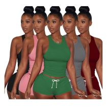 0033012 Sexy 2020 Summer sweatsuit street style 2 Pcs Track Suit Outfits Two Piece Women Clothing For Women Two Piece Shorts Set