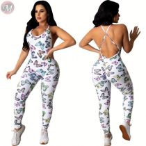 0040713 Summer Wholesale Suspender Womens Summer One Piece Fashion Sleeveless Skin Tight Latest Design Jumpsuit And Rompers