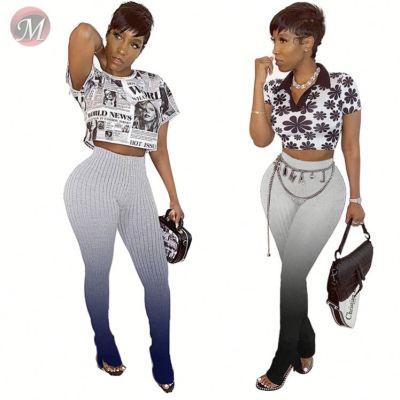 0042207 2020 Wholesale Cotton Harem High Waist Stretch Ladies Fashionable Women Sexy Trousers Casual Long Pant Knit Women Pants