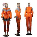 0042011 Good Quality Casual Clothes Fluorescent Zipper Reflective Long Pants Fitness Sportswear Women Tracksuit 2 Piece Sets