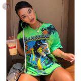 0043013 Fashion Ladies Round Neckline Basic Latest Design loose Tops Manufacturer Custom Girls' Tee Summer Women Plain T Shirt