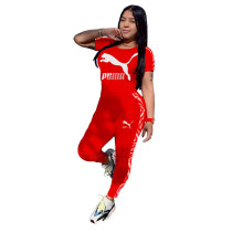 Q051320-1 Fashionable Solid Color O Neck Long Pant And Short Sleeve Women Two Piece Sport Track Suit Outfits