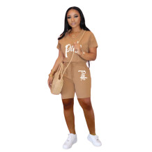Q060514-2 Cassual Women Solid Color With Pocket 2 Pcs Track Suit Outfits Two Piece Short Set