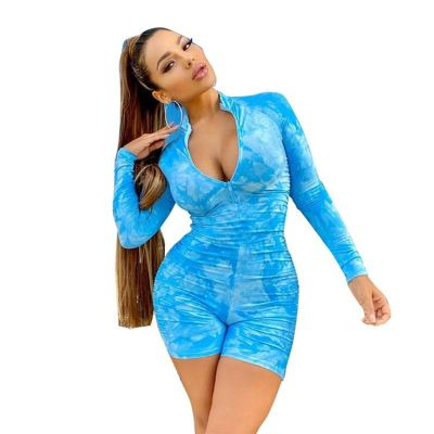 0060228 New Style Wholesale Summer Sexy Bodycon Athletic Jump Suit Women Long Sleeve One Piece Jumpsuits And Rompers For Woman